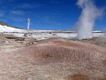 Campos geotérmicos Imagen de archivo libre de regalías
