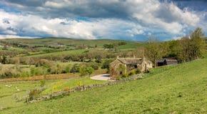 Campos no campo de Cheshire, Reino Unido imagens de stock