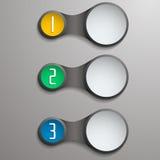 Campos numerados y libres del metasphere de Infographic para el texto Fotografía de archivo