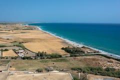 Campos planos de Kourion, Chipre Fotografía de archivo libre de regalías