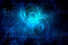 Campos redondos artísticos abstractos del fondo de la energía ilustración del vector