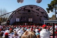 campos robią festiwalu jordao Paulo sao zima Obrazy Royalty Free