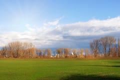 Campos vazios no inverno no campo natureza em Frankenthal - Alemanha fotografia de stock
