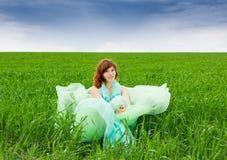 Campos verdes da alma Fotografia de Stock Royalty Free