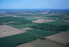 Campos verdes - visión aérea Fotos de archivo