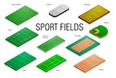 Campos y cortes de deporte Fotos de archivo libres de regalías