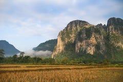 Campos y montaña Imagenes de archivo