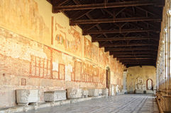 Camposanto Hallway - Pisa Royalty Free Stock Photography