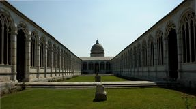 The Camposanto in Pisa royalty free stock photography