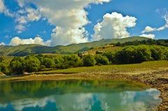 Campotosto Italien Fotografering för Bildbyråer