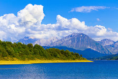 Campotosto lake. And Monti della Laga (Aquila) - Italy Royalty Free Stock Photos