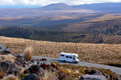 Campravan drive through Tongariro National Park Stock Images