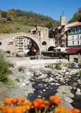 Camprodon i Pyrenees arkivbilder