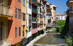 Camprodon town called Small Gerona Stock Images