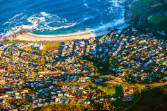 Camps Bay aerial Royalty Free Stock Photography