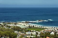 Camps bay, Atlantic ocean, Cape town Stock Image