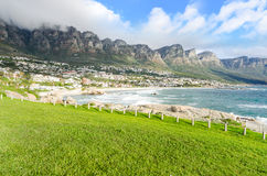 Camps Bay Beach – Cape Town, South Africa stock photography