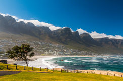 Camps Bay Beach in Cape town. South Africa royalty free stock images