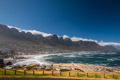 Camps Bay Beach in Cape town Stock Photos