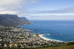 Camps Bay Beach near Cape Town Royalty Free Stock Photos