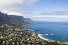 Camps Bay Beach near Cape Town Stock Photos