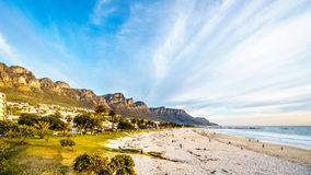 Camps Bay beach near Cape Town South Africa at the foot of the Twelve Apostles Stock Image