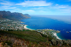 Camps Bay at Cape Town Stock Photos