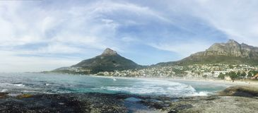 Camps Bay in Cape Town, South Africa royalty free stock image