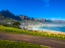 Camps Bay Hillside with Posts Royalty Free Stock Images