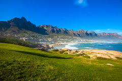 Camps Bay Hillside with Posts Stock Photos