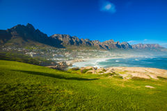 Camps Bay Hillside with Posts Stock Image