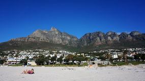 Camps Bay near Cape Town, in the Western Province of South Afric Royalty Free Stock Photo