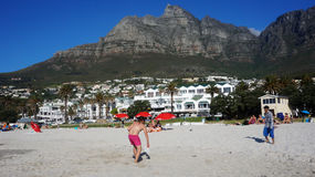 Camps Bay near Cape Town, in the Western Province of South Afric Stock Images