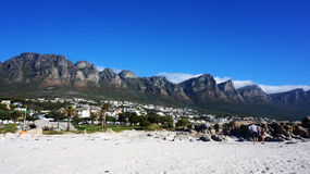 Camps Bay near Cape Town, in the Western Province of South Afric Royalty Free Stock Photography