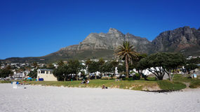 Camps Bay near Cape Town, in the Western Province of South Afric Royalty Free Stock Image