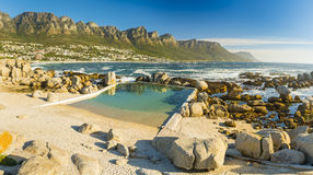 Camps Bay Ocean Pool Royalty Free Stock Photo