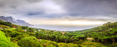 Camps Bay panorama Royalty Free Stock Images