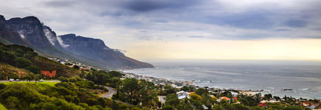 Camps Bay panorama. Panoramic view of Camps Bay in Cape Town, South Africa Royalty Free Stock Photos