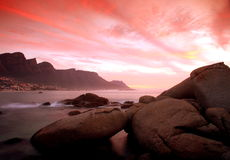 Camps  Bay sunset Stock Photography
