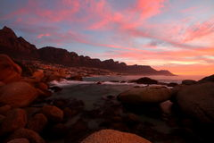 Camps  Bay sunset Royalty Free Stock Image