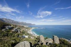 Campsbay Capetown Południowa Afryka obrazy stock