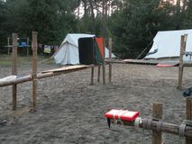 Campside of a local scouting group stock image
