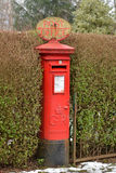 CAMPSIE GLEN, STIRLINGSHIRE, SCOTLAND - 21 JANUARY 2015: Traditional British Postbox with Post Office sign on top Stock Photography