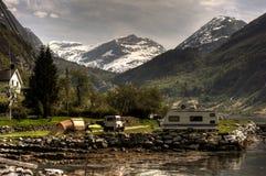 campsite Fotografia Royalty Free