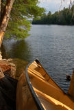 Campsite. Sunny evening after day of canoeing in Algonquin Park Royalty Free Stock Image