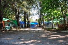campsite Immagini Stock