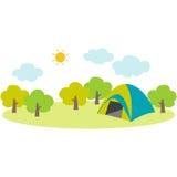 campsite Royalty-vrije Stock Afbeeldingen