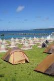 Campsite along the beach in Miyakojima Royalty Free Stock Image