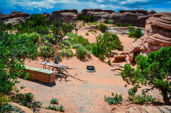 Campsite - Arches National Park - Moab, Utah Royalty Free Stock Photos