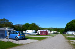 Campsite at Bakewell, UK Royalty Free Stock Image